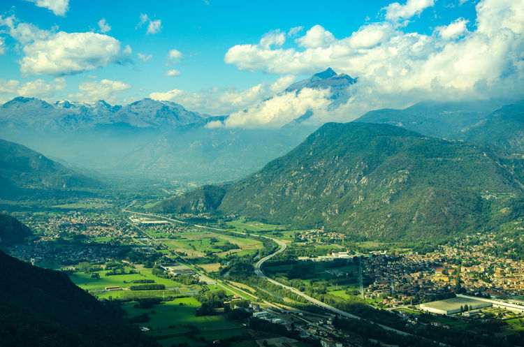 "© Nurmukhammad Abdukarimov • ""View of Val Susa from Sacra"" Aerial View Beauty In Nature Cloud - Sky Day Green Color Landscape Mountain Mountain Range Nature Non-urban Scene Outdoors Remote Sacra Di San Michele Sant'Ambrogio Scenics Sky Torino Tourism Tranquil Scene Tranquility EyeEm Best Shots - Nature EyeEm Best Shots Mybestshot EyeEmBestPics EyeEm Nature Lover Finding New Frontiers EyeEmNewHere Miles Away Miles Away Breathing Space The Week On EyeEm Berlin Love Mix Yourself A Good Time Lost In The Landscape An Eye For Travel"