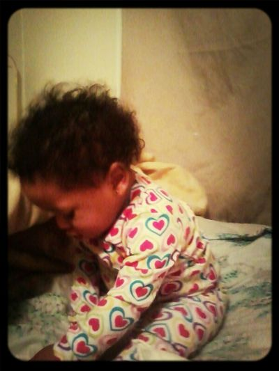 my bby eating her snacks