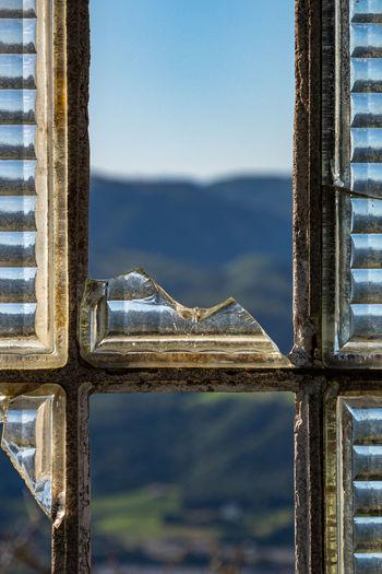 Full frame shot of broken window