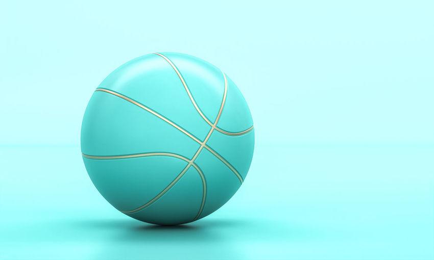 Close-up of blue ball