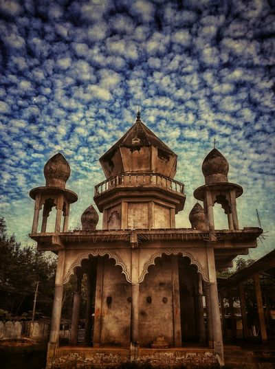 Half Built Temple Temple Architecture Sky Blue Sky Dome Low Angle View Outdoors Place Of Worship Travel Destinations first eyeem photo
