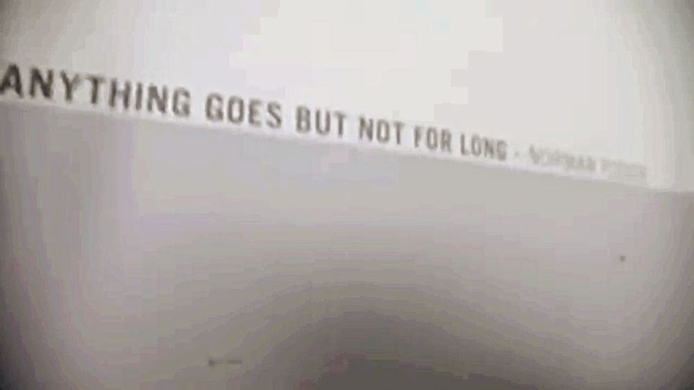 """"""" Anythinggoes , but not for long """""""