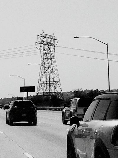 socal variation of a view shared by many Taking Photos On The Road EyeEm Gallery Bnw_friday_eyeemchallenge EyeEm Bnw Blackandwhite Photography Electric Lines There Be Dragons