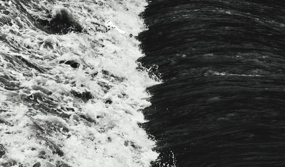 Water Tevere Inquinamento Backgrounds Full Frame Wave Motion Close-up