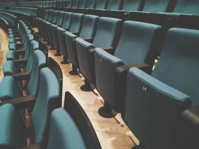 Seat Chair Auditorium In A Row Arts Culture And Entertainment Stage Theater Movie Theater Film Industry Folding Chair Indoors  No People Day Teatro Del Verme Milano Premio Internazionale Arte Milano