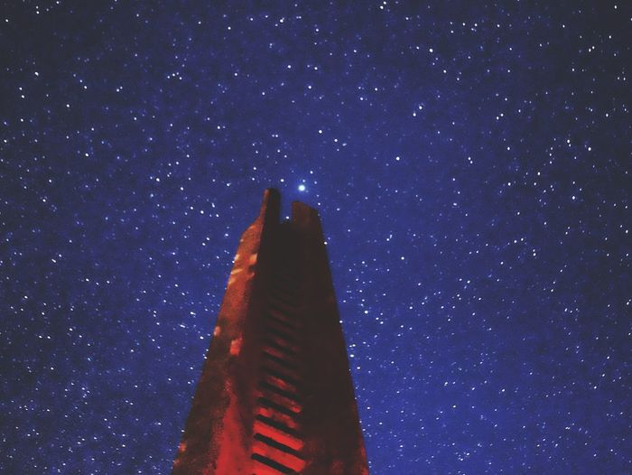 Northstar EyeEm Masterclass Eyeem Market Malephotographerofthemonth Space Night Star - Space Astronomy Sky Low Angle View Star Architecture Galaxy Star Field Nature No People Built Structure Illuminated Building Exterior Scenics - Nature Space And Astronomy Blue Infinity Tower