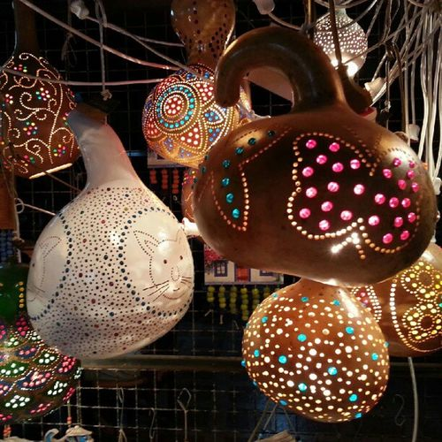 Bazaar Turgutreis  Squash Zucchini pumpkin lamp night lights