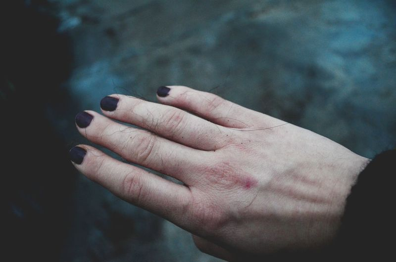Close-Up Of Cropped Woman Hand