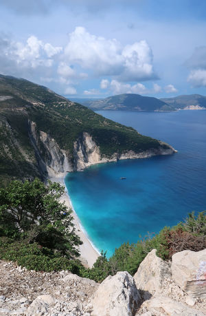 Myrtos beach, Kefalonia - Greece GREECE ♥♥ Greek Greek Islands Kefalonia Island Bay Beach Cloud - Sky Greece Greece Islands High Angle View Idyllic Kefalonia Mountain Mountain Range Nature Non-urban Scene Rock Rock - Object Scenics - Nature Sea Sky Tranquil Scene Tranquility Turquoise Colored Water