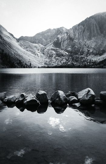 Mountains And Sky Mountain Mountains Lake Lakeshore Lake View Lakeside Lakesideview Lakeview Sierras Sierra Nevada Mountains Mammoth Black & White Blackandwhite Photography Blackandwhitephotography Blackandwhite Black And White Black And White Photography Black&white Black And White Collection  Vacation Time Convict Lake Nature Nature Photography Panorama