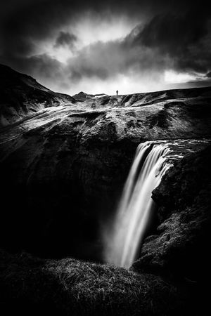 Iceland Beauty In Nature Blurred Motion Cloud - Sky Day Idyllic Island Landscape Long Exposure Motion Nature No People Outdoors Power In Nature Scenics Sky Tranquil Scene Tranquility Water Waterfall
