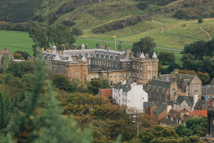 Classic city of Edinburgh Architecture Built Structure Building Exterior Plant Tree Building Nature No People Growth High Angle View Day Green Color City Land Outdoors Environment History Residential District House Old TOWNSCAPE Scotland Castle Classic Vintage