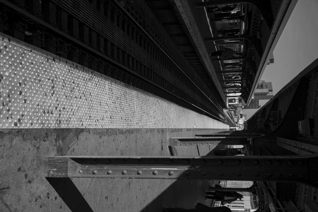 transportation, connection, bridge - man made structure, architecture, rail transportation, built structure, train - vehicle, no people, outdoors, day, city