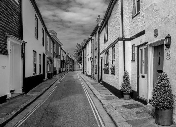 Water Lane, Sandwich, Kent Kent Sandwich Blackandwhite Black And White Monochrome Street Urban FUJIFILM X-T2 Street Architecture Built Structure Sky