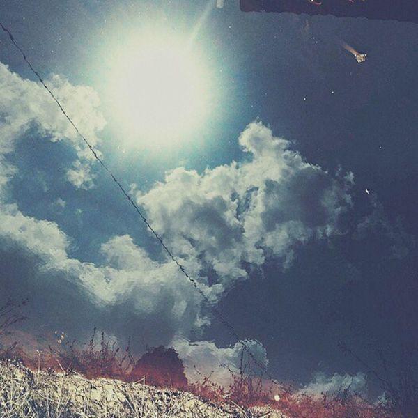 Reflections In The Water Lake Sun Hometown Memories Sky Blue Azure Sky
