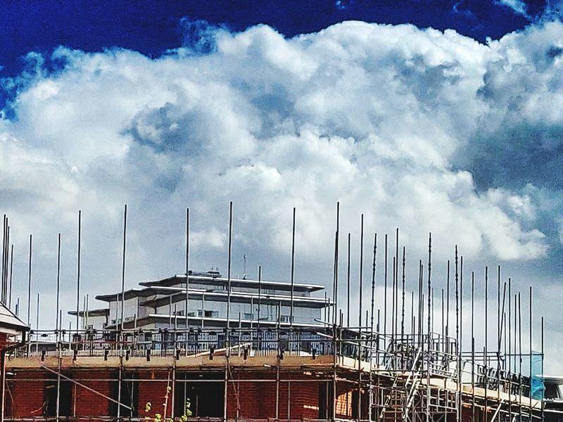 Photowalktheworld Cloudy Day Cloud Sky Architecture Cloud - Sky Built Structure Construction Incomplete