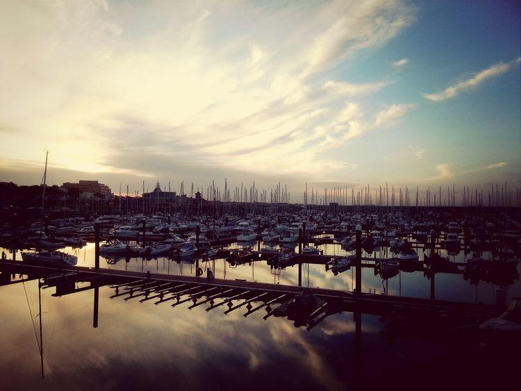 Seaside Reflections Sunset Masts