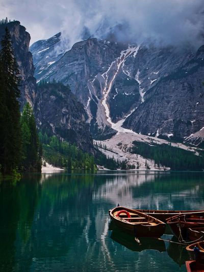 Wildsee Beauty Mountain Water Beauty In Nature Scenics - Nature Lake Nautical Vessel Reflection Nature Mountain Range Tree Cloud - Sky No People The Great Outdoors - 2018 EyeEm Awards