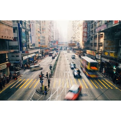 In motion, Hennessy Road, Hong Kong. Travel Travelphotography Vscocam Ricohgr hongkong latergram