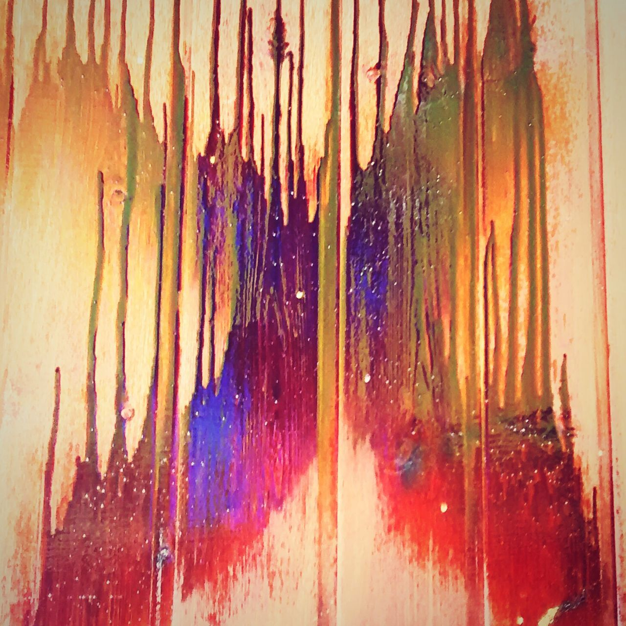 paint, indoors, multi colored, no people, close-up, day, dripping