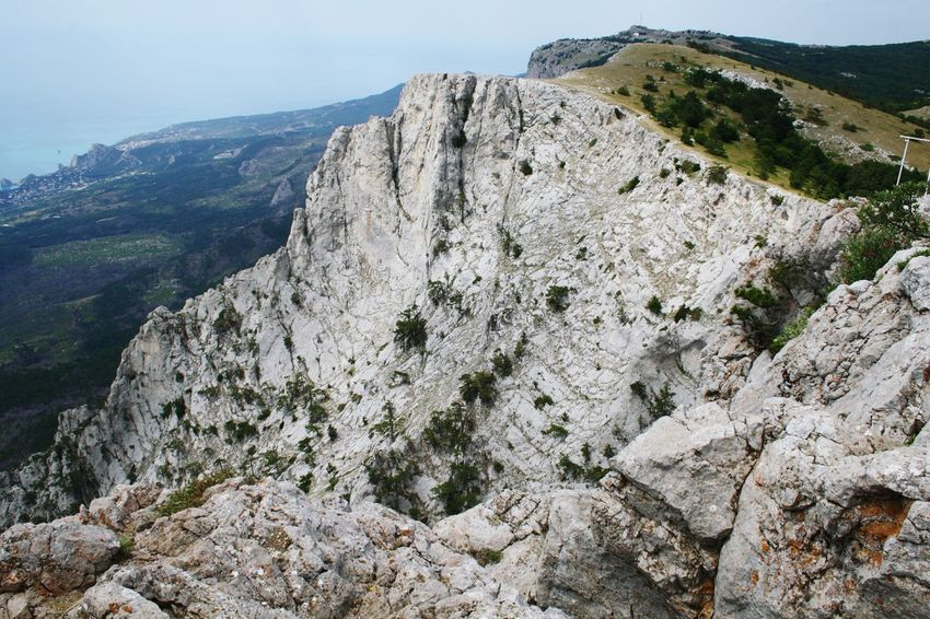 rocky edge Crimea Mountain Cliff Mountain Peak Rock - Object Sky Landscape Pine Woodland Rock Formation Rocky Mountains Physical Geography Natural Landmark Arid Landscape Natural Arch Pine Tree Mountain Ridge Geology