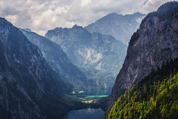 Königssee lake surrounded by majestic european alps