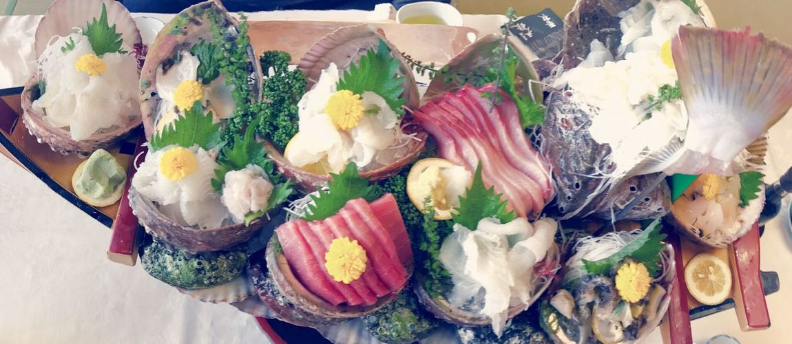 Food And Drink Indoors  Freshness Food No People Close-up Ready-to-eat Day Fish Sashimi Dish Japan Photography Japan Otsukuri Japanese Food Japanese Culture Japanese Style Beautiful EyeEm Best Shots Dishes Light And Shadow Healthy Eating Indoors  Food And Drink