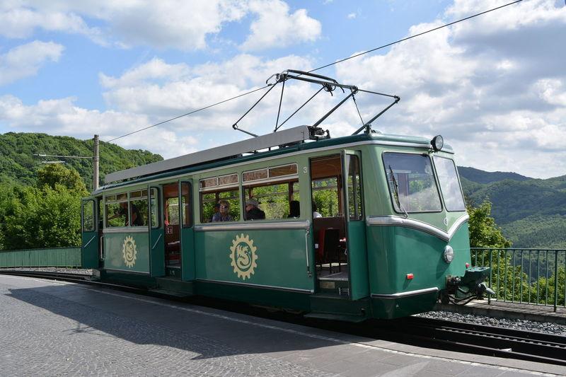 Zahnradbahn Königswinter Cloud - Sky Day Green Color Mode Of Transport Outdoors Public Transportation Railroad Track Sky Transportation Zahnradbahn
