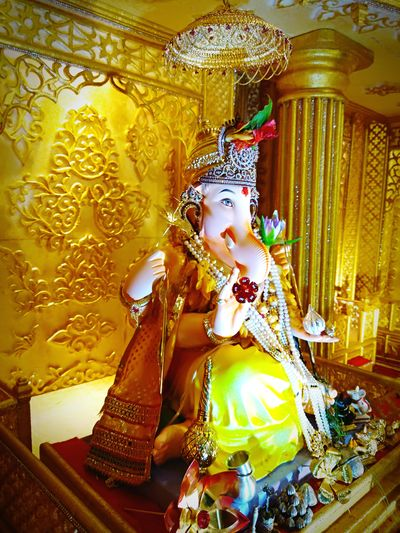Eyeemphotography Mobilephotography Myclick💚 MyClick India Redminote4photography RedmiNotePhotography Ganesha Chaturthi Indianfestival LordGanesha Elephant God Ganesha Lord Of Success Ganesha Idol Gold Colored Beauty Indoors  Redminote4 Closeupshot Detailed To Perfection Blessedandthankful GanpatiBappaMorya GodBlessYouAll JaiGanesh MyEdit Picoftheday