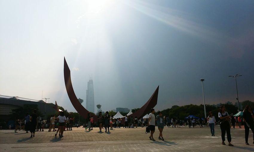 하늘 날씨 올림픽경기장 두가지 멋짐