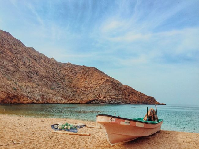 Beach Fisherman Boat Nature Oman