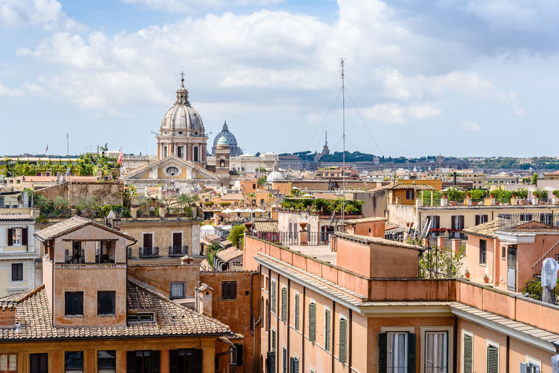 Skyline of Rome a sunny summer day Architecture Building Exterior Built Structure City City Cityscape Cityscape Cloud - Sky Day Dome Landmark No People Outdoors Religion Rome Sky Skyline Street Summer Sunny Tourist Tourist Attraction  Travel Travel Destinations Vatican