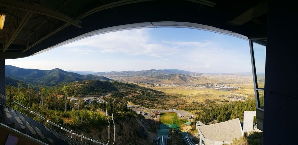 A Bird's Eye View Salt Lake City 2002 Olympic ski jump sites Saltlakecity Parkcityutah Olympics 2002olympics Panorama Note5