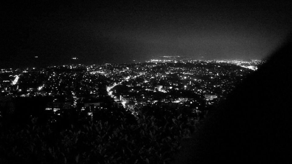 Night Illuminated Sky City Outdoors Cityscape