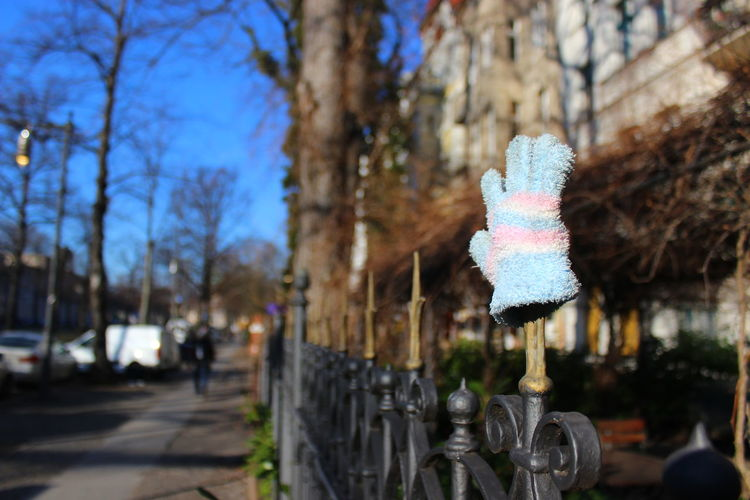 Children's Clothing Close-up Day Fence Focus On Foreground Glove Gloves Handschuhe No People Outdoors Zaun EyeEmNewHere The City Light