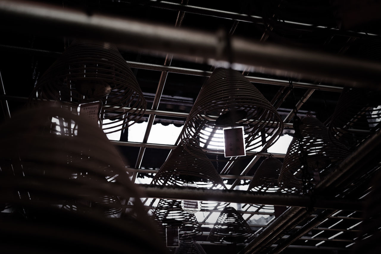 LOW ANGLE VIEW OF CEILING IN FACTORY