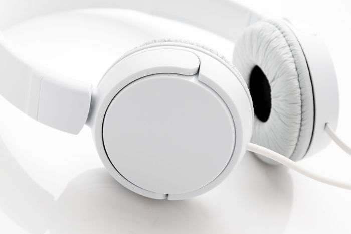 The silence of sounds Calmness Close-up Headphones Music No People Silence Stereo Technology White Background White Color