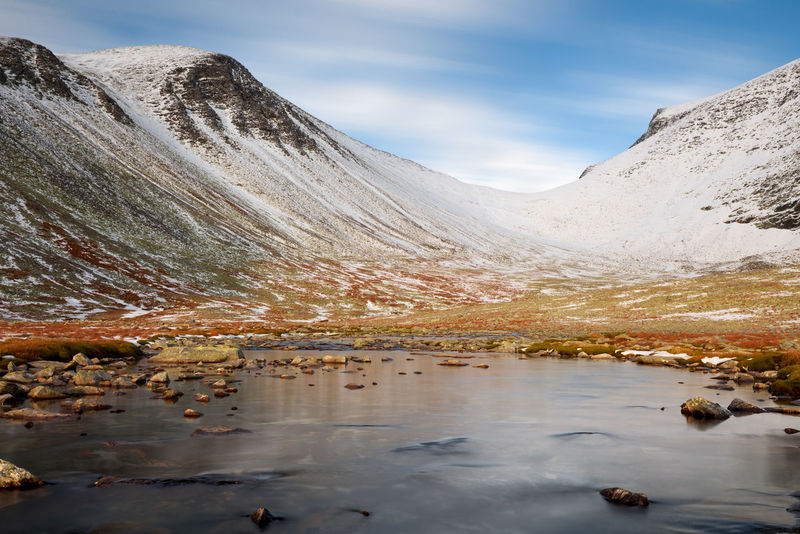 Autumn in the Rondane mountains. Mountain Water Scenics - Nature Beauty In Nature Sky Lake Nature Mountain Range Tranquility Tranquil Scene Day Reflection Environment Non-urban Scene No People Idyllic Snowcapped Mountain Rondane Norway Hiking Hikingadventures Autumn Autumn colors
