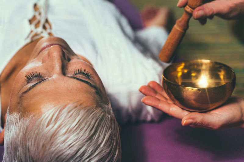 Sound Healing Meditation Sound Therapy Meditating Sound Tibetan Singing Bowl Senior Woman Mid Adult Woman Women Only Singing Bowl Tibetan Bowl Bowl Sound Yoga Vibration Therapy Buddhism Buddhist Stick Healing Music Therapy Spiritual Harmony Instrument Balance Spirit Relaxation Guided Mantra Tibetan  Tone Ascetic Training Metal Traditional Alternative Medicine Nada Yoga Zen Energy Frequency Resonate Indian Drum Essence Bioenergy Music Acoustic Awareness Pain Management Stress Management Sound Bath Mindfulness Holistic