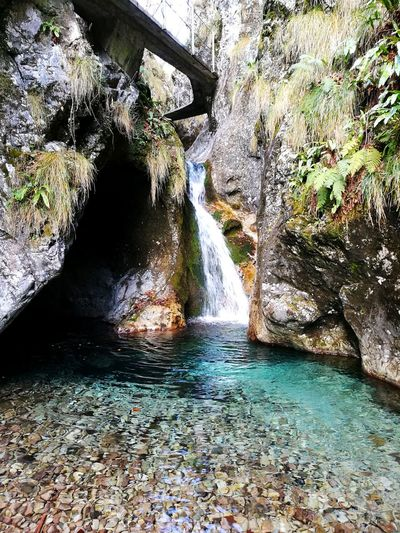 Water Outdoors Day Nature No People Tree Beauty In Nature Waterfall Mountain Creek Italy Landscape