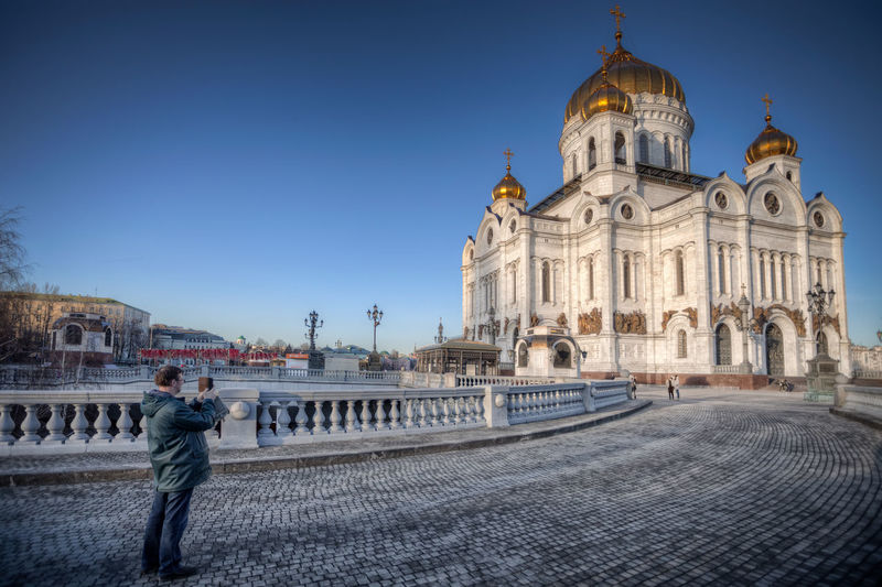 Cathedral of Christ the Saviour Orthodox Church Orthodox Russia Moscow Politics And Government City Government Clear Sky Politics Dome History Place Of Worship Sky Architecture Cathedral Gothic Style Church