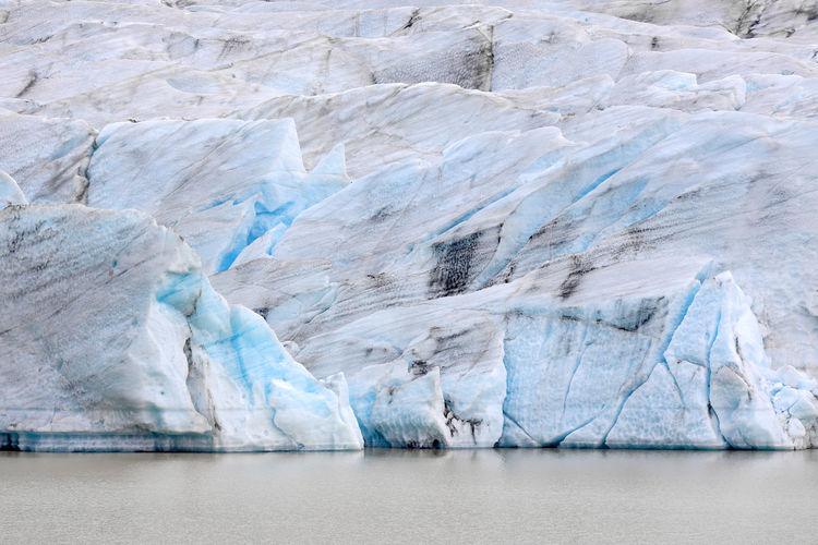 View of glacier in sea