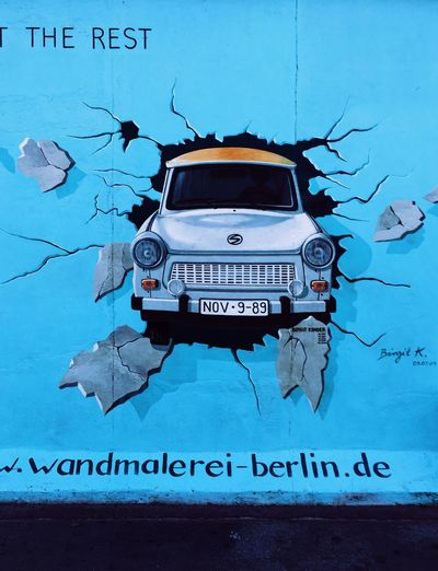 Berlin wall Street Art Urban Germany Europe Graffiti Car Graffitti Wall Berlin Wall Europe Western Script Communication Close-up Wall - Building Feature Indoors