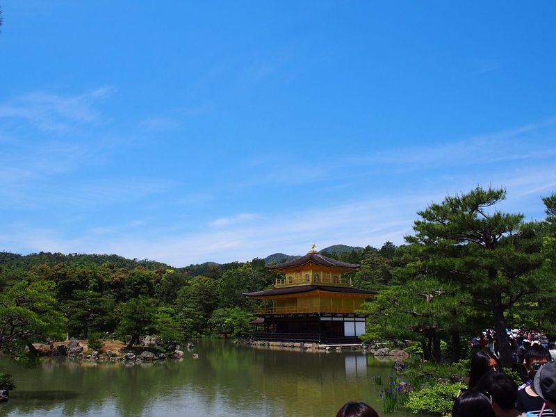 Kinkakuji At 鹿苑寺(金閣寺) Kinkaku-ji Temple Kyoto 京都 Japan 日本