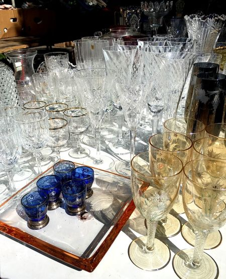 Gläser Table Colored Glass Outdoors Glass - Material Lots Of Glass Transparent Glas