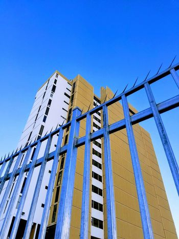 Blue Day Sky Built Structure Lines And Angles San Juan PR Perspective Popular Urban Exploration Residential Building Shapes And FormsArchitecture Gates Architectural Detail Clear Sky