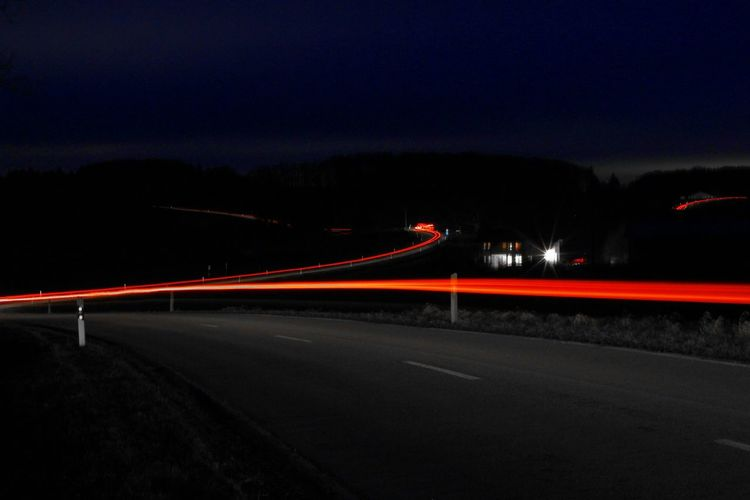 Long Exposure Light Trail Car Highway City Road Sign Illuminated Road Rush Hour Red Motion Long Exposure Speed Light Trail Tail Light Elevated Road Highway Red Light Two Lane Highway Road Signal Traffic Light  High Street Headlight HUAWEI Photo Award: After Dark It's About The Journey