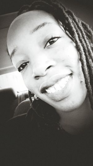 My Self My Face Brown Skin Black & White Smiling Eyes Color Even Pretty Girls Get Blemishes