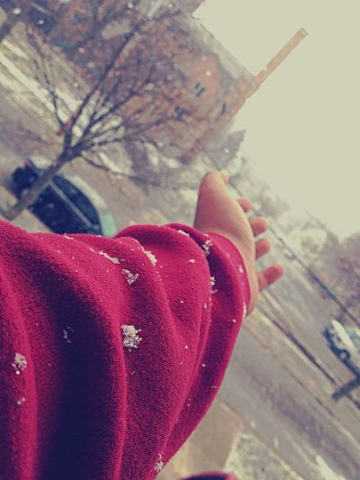 It snowed I think.
