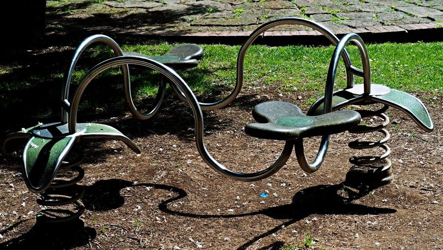 Bicycle Rack Close-up Day Easter Morning  Grass Metal Nature No People Outdoors Parco Favorita